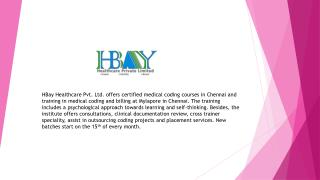 Medical Coding in Chennai | Hbay Healthcare