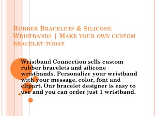 Bracelets & Silicone | Lazer-Made Wristbands