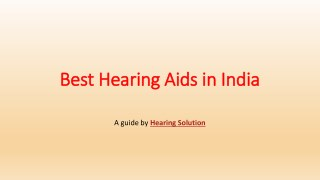 Best Hearing Aids in India|Affordable Hearing Aids