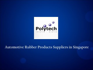 Automotive Rubber Components Suppliers
