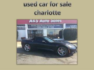 used car for sale charlotte