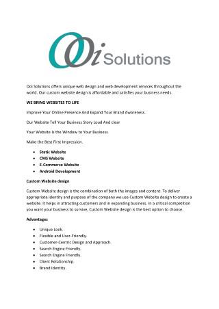 Web Design Services | Web Development | Custom web Designing