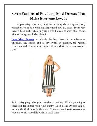 Buy Long Maxi Dresses in Woodland Hills, CA
