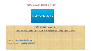 IBM AS400 Users List