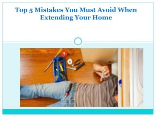 House Remodelling Mistakes to Avoid