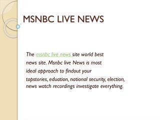 MSNBC LIVE NEWS