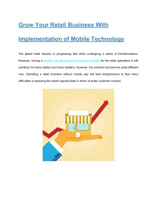 Grow Your Retail Business With Implementation of Mobile Technology