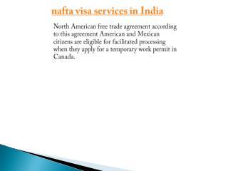 nafta visa services in India