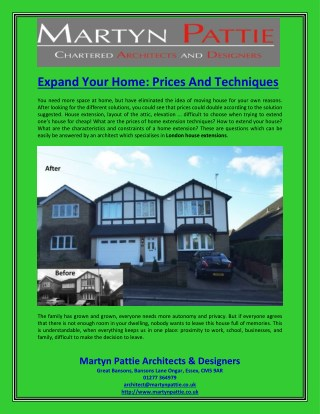 Expand Your Home Prices And Techniques