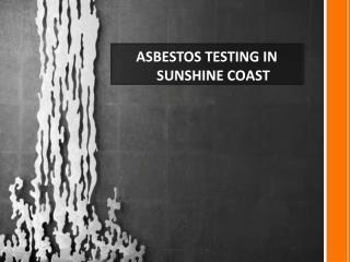 asbestos testing sunshine coast