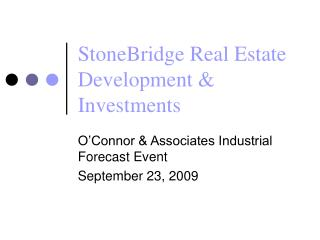 StoneBridge Real Estate Development & Investments