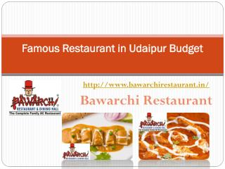 Famous Restaurant in Udaipur Budget