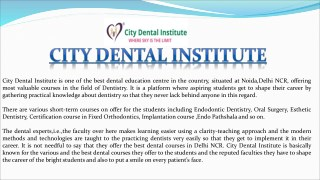 Dental Education in India - Best Dental Course in India