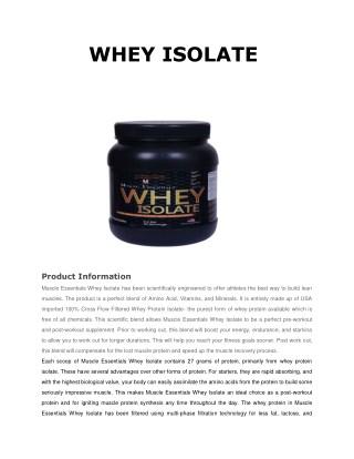 WHEY ISOLATE