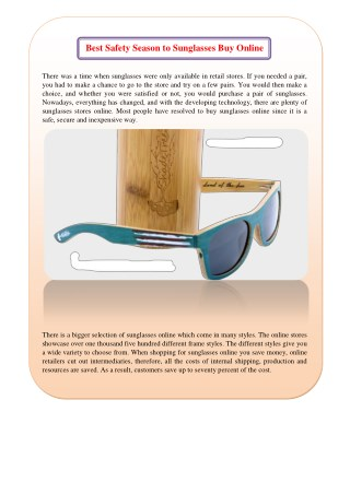 Best Safety reason to sunglasses buy online