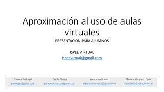 Tutorial: primeros pasos en el aula virtual