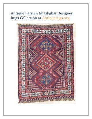 Antique Persian Ghashghai Designer Rugs Collection at Antiquerugs.org