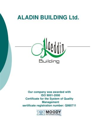 ALADIN BUILDING Ltd.