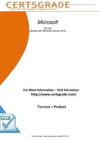 70-742 Exam Practice Material