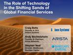The Role of Technology in the Shifting Sands of Global Financial Services