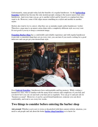 How to select a good barber shop