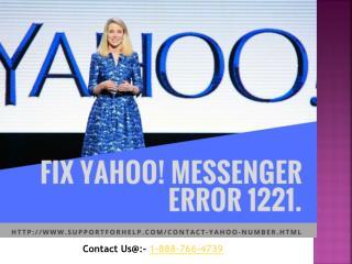 Fix Yahoo! Messenger Error 1221