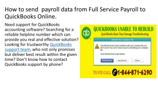 How to send  payroll data from Full Service Payroll to QuickBooks Online.