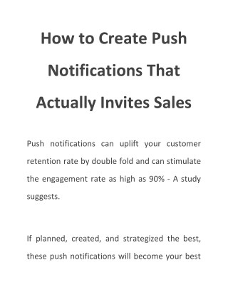 How to Create Push Notifications That Actually Invites Sales