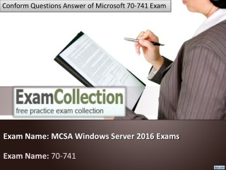 Where Can I Download Microsoft 70-741 Dumps? - Examcollection.in