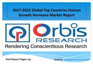 2017 Human Growth Hormone Market Global Share, Trends, Opportunities, Outlook & Forecast 2022