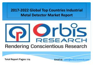 Global Industrial Metal Detector Market 2017 Trends, Opportunities & Forecast 2022