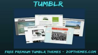 Free Tumblr Template - Free Premium Tumblr Themes from Zopthemes
