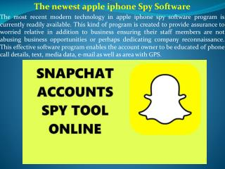 The newest apple iphone Spy Software