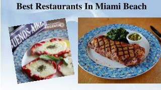Best Restaurants In Miami Beach