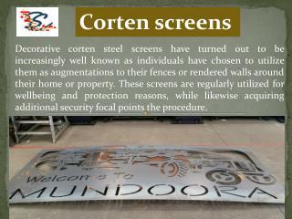 Corten screens – Decorative screens can be an asset for your garden