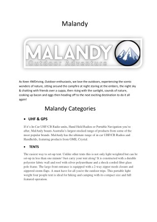 Malandy Outdoor Adventure