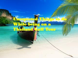 luxury golf tours| thailand golf holiday