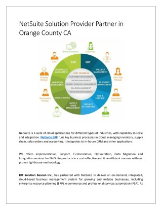 NetSuite Solution Provider Partner in Orange County CA