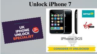 Unlock iPhone 7