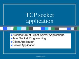 TCP socket application