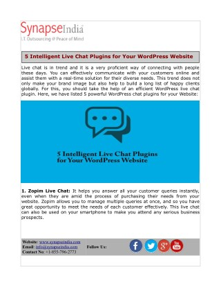 5 Intelligent Live Chat Plugins for Your WordPress Website