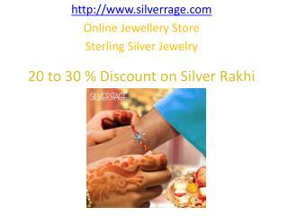 Silverrage Huge Discount on Sterling Silver Rakhi