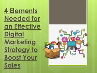 4 Elements Needed for an Effective Digital Marketing Strategy to Boost Your Sales