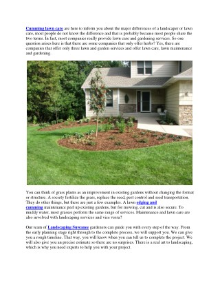 Difference Between Lawn care & Landscaping
