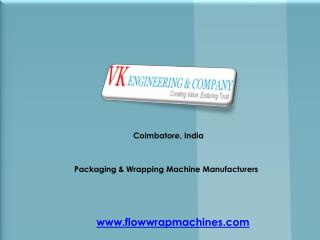 Packaging & Wrapping Machine Manufacturers