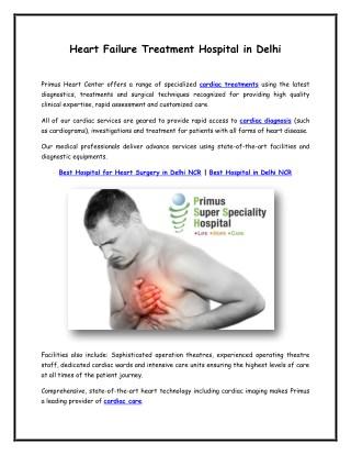 Heart failure treatment hospital in india