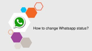 How to change Whatsapp status?