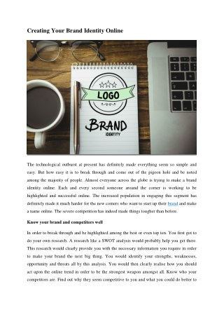 Creating Your Brand Identity Online