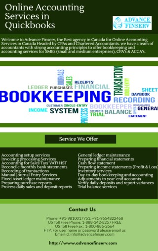 Get Highly Secure Online Accounting Services in Quickbooks