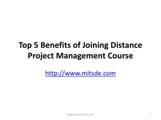 Top 5 Benefits of Joining Distance Project Management Course